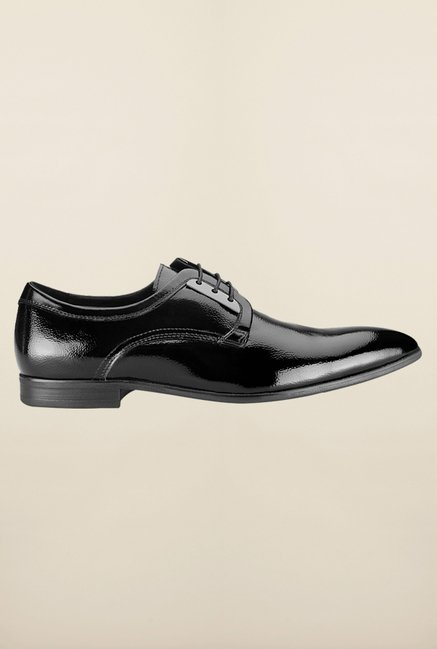 Tresmode Bepatent Black Derby Shoes
