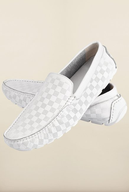 Tresmode Jinv White Loafers