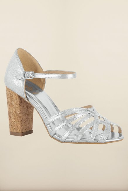 Tresmode Cepart Silver Ankle Strap Sandals