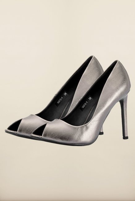 the cheapest good looking buy Buy Tresmode Soglam Pewter Stilettos Online at best price at TataCLiQ