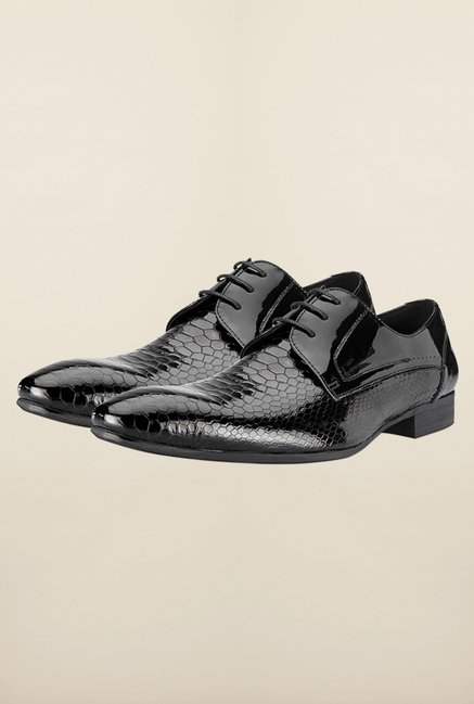 Tresmode Eblack Black Derby Shoes