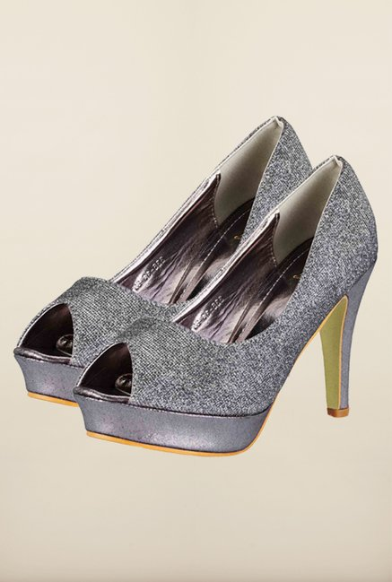 Tresmode Cpeep Grey Stilettos