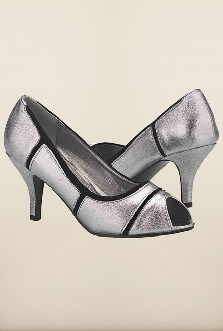 Tresmode Cpatch Pewter Slide Shoes