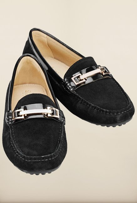Tresmode Ayaloaf Black Loafers