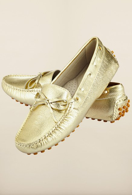 Tresmode Agold Gold Moccasins