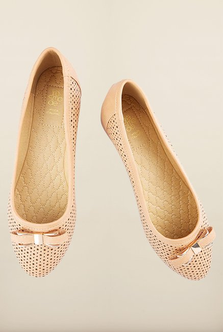 Tresmode Bgold Beige Flat Shoes