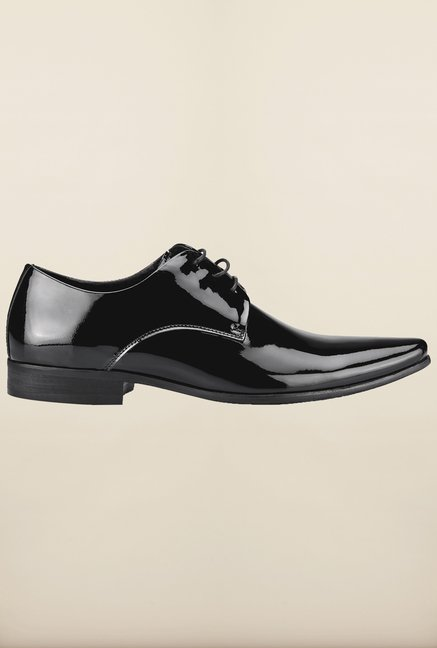 Tresmode Hongpat Black Derby Shoes