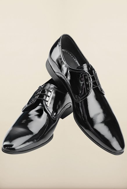 Tresmode Coshi Black Derby Shoes