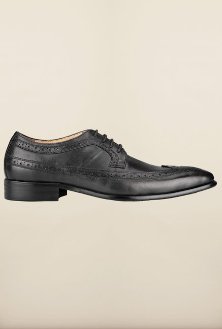 Tresmode Fugu Black Brogue Shoes