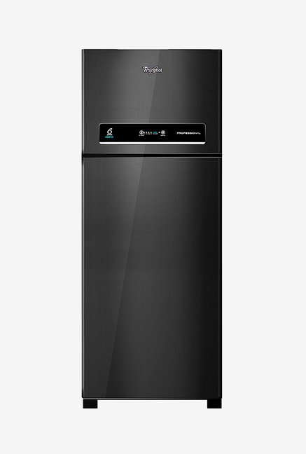Whirlpool Pro 465 ELT 445L 3 Star  Double Door Refrigerator (Black)