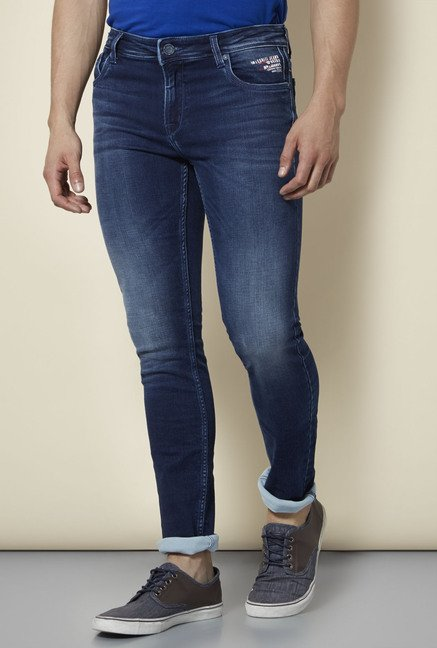 Integriti Blue Lightly Washed Slim Fit Jeans