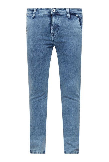 Integriti Blue Solid Raw Denim Jeans