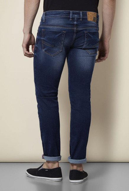 Integriti Navy Lightly Washed Jeans