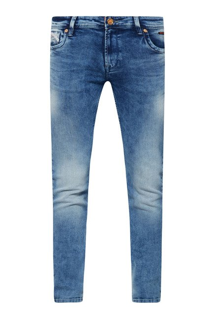 Integriti Blue Solid Jeans