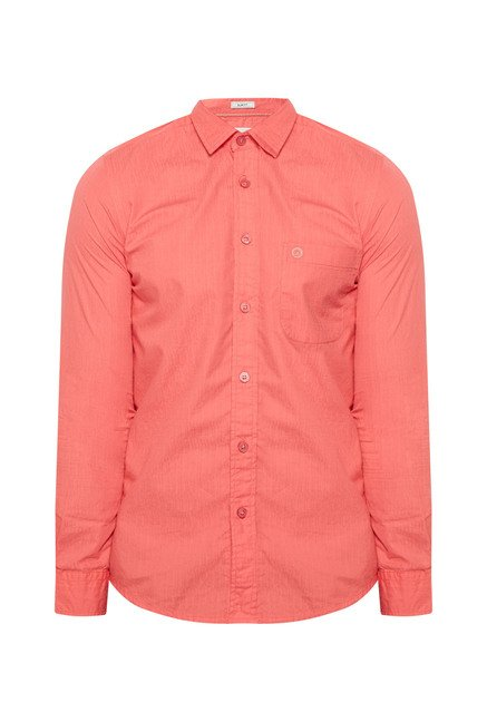 Integriti Peach Cotton Shirt