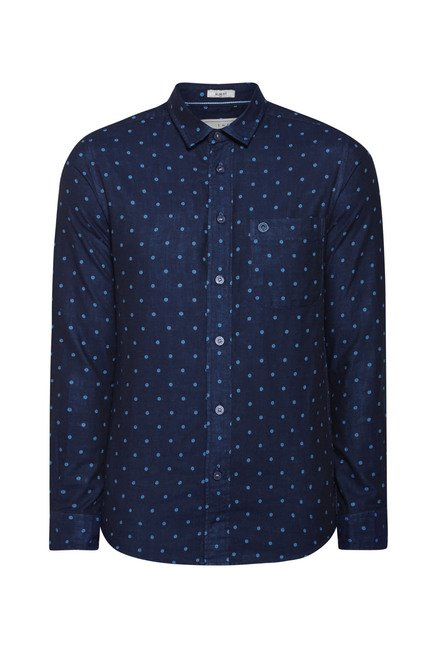 Integriti Navy Printed Shirt