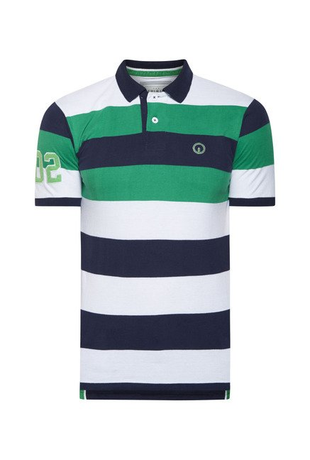Integriti Blue Striped Polo T Shirt