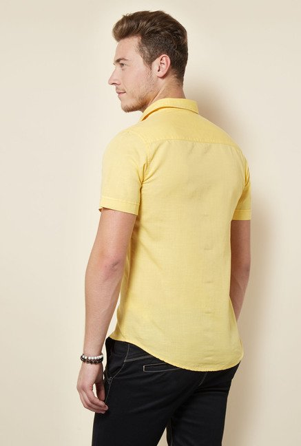 Integriti Yellow Slim Fit Shirt