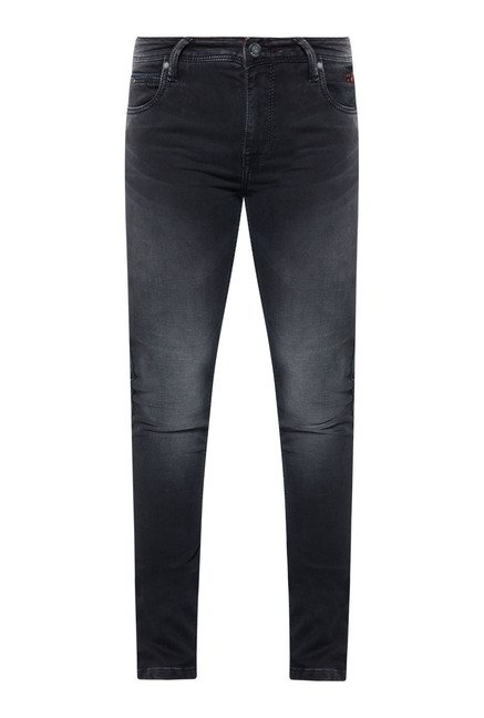Integriti Black Solid Slim Fit Jeans
