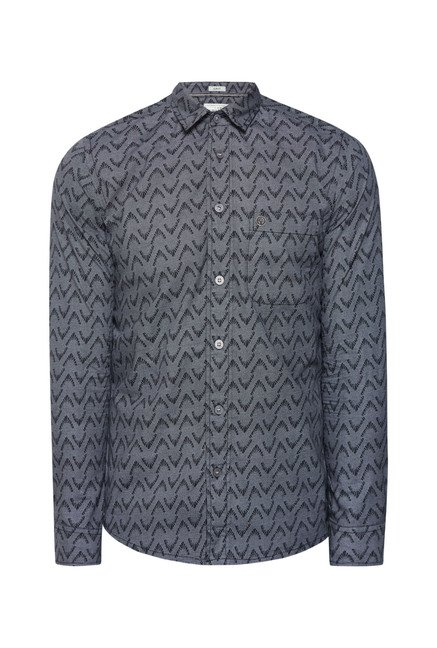 Integriti Grey & Black Cotton Shirt