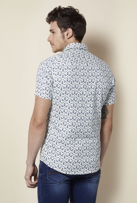 Integriti Off White Printed Shirt
