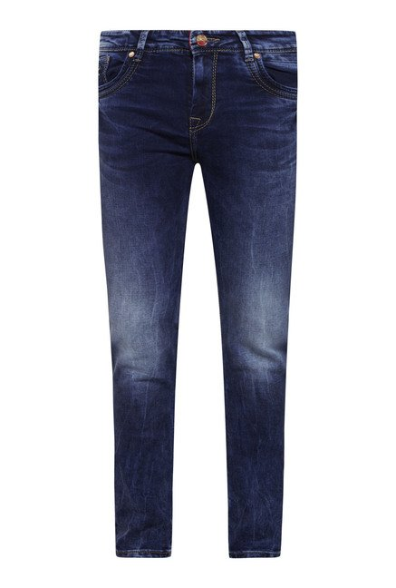 Integriti Blue Solid Slim Fit Jeans