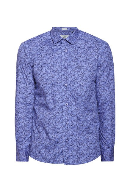 Integriti Blue Printed Shirt