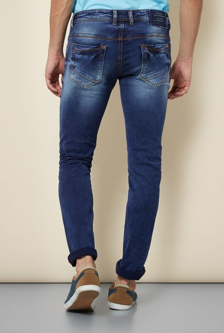 Integriti Dark Blue Heavily Washed Jeans