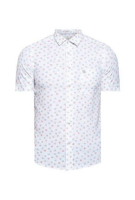 Integriti White Printed Shirt