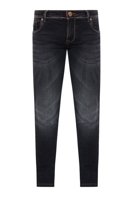 Integriti Black Cotton Skinny Fit Jeans