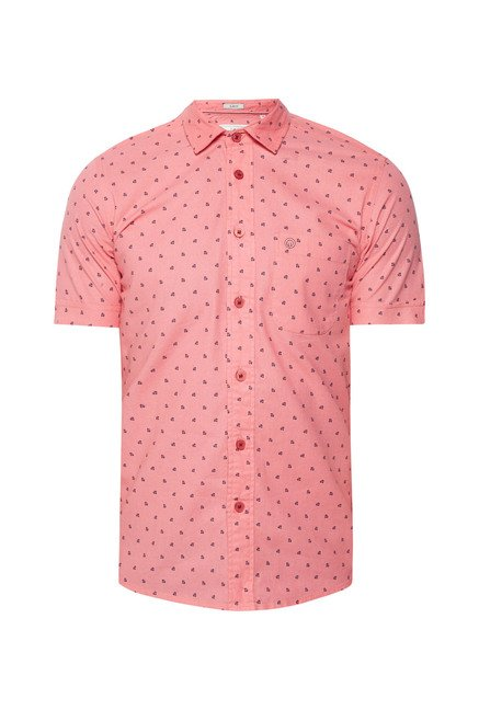 Integriti Peach Printed Shirt