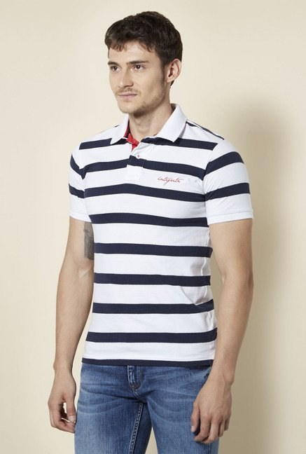 Integriti White Striped T Shirt