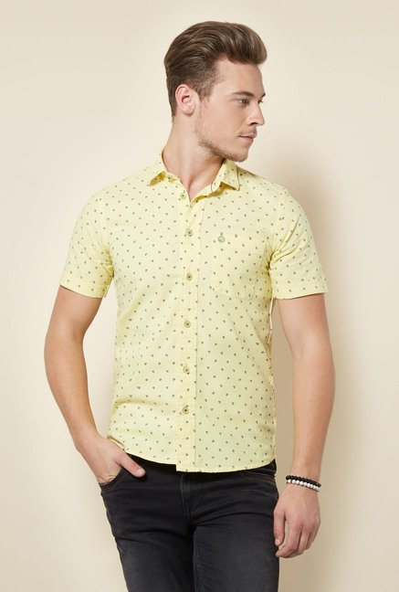 Integriti Yellow Printed Shirt