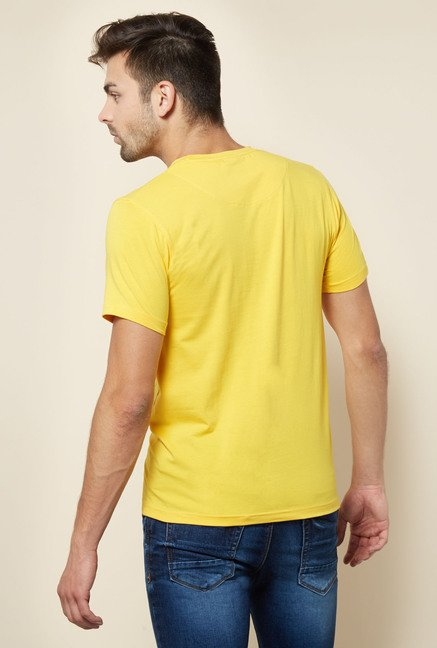 Integriti Yellow Printed T Shirt