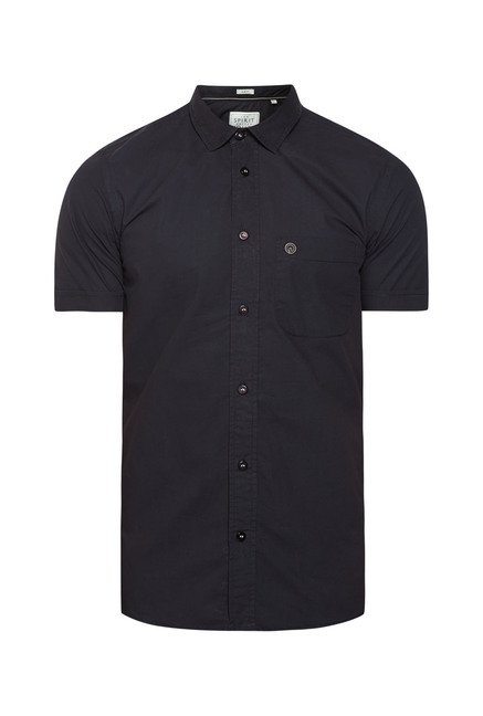 Integriti Black Solid Shirt