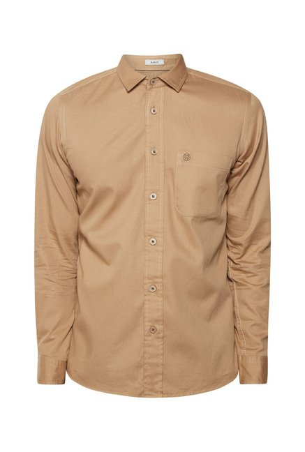 Integriti Khaki Solid Shirt