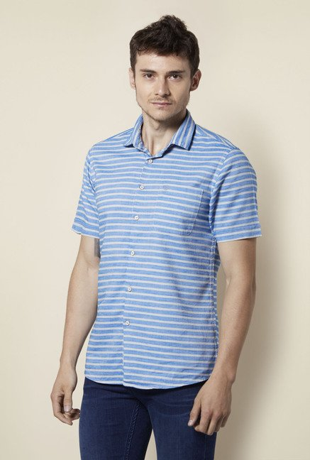 Integriti Blue Striped Shirt