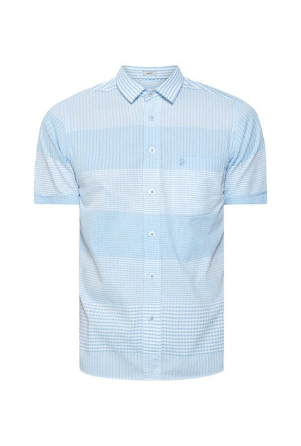 Integriti Blue Striped Slim Fit Shirt