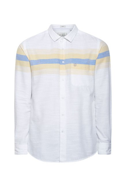 Integriti White Striped Shirt