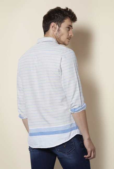 Integriti Off White Striped Shirt