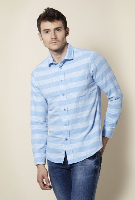 Integriti Blue Striped Cotton Shirt
