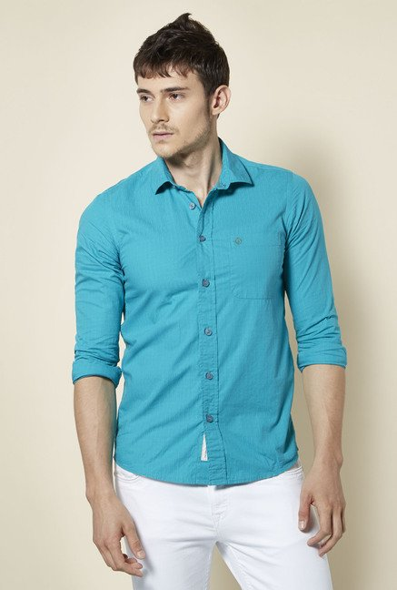 Integriti Teal Solid Shirt