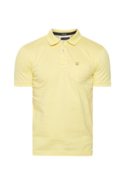 Integriti Yellow Solid Polo T Shirt