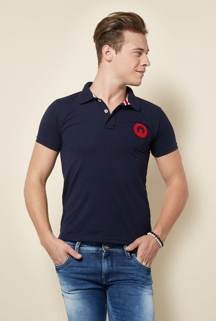 Integriti Navy Solid T Shirt