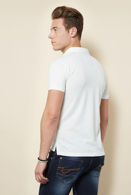 Integriti White Solid Polo T Shirt