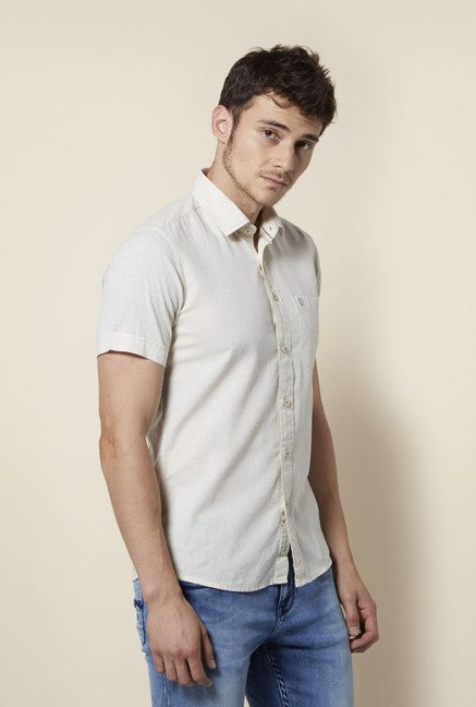 Integriti Cream Solid Shirt