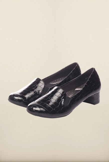 Pavers England Black Ballerinas