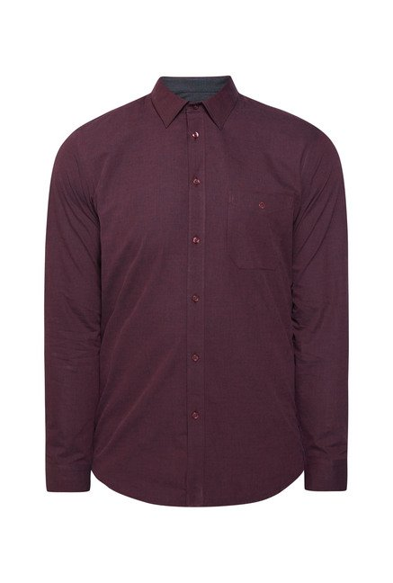 Integriti Purple Cotton Shirt