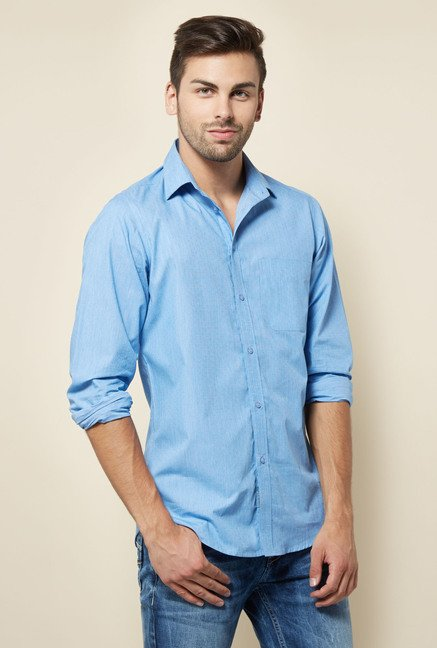 Integriti Blue Solid Shirt