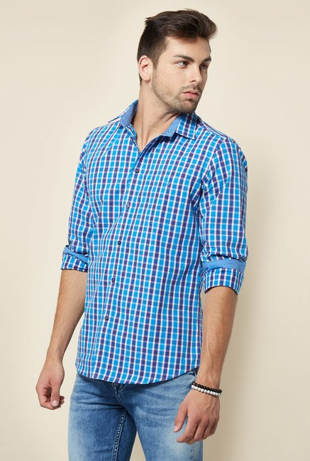 Integriti Blue & White Checks Shirt